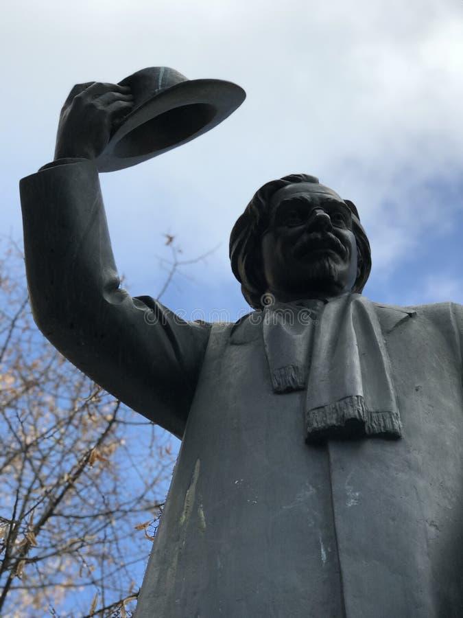 Statua Sholem Aleichem w Kyiv, Ukraina obrazy royalty free