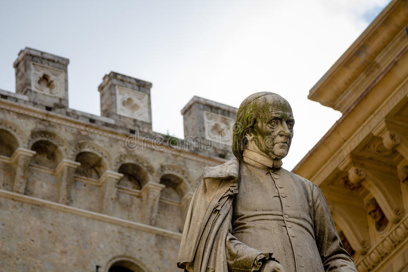 Statua, Siena, Italia fotografie stock