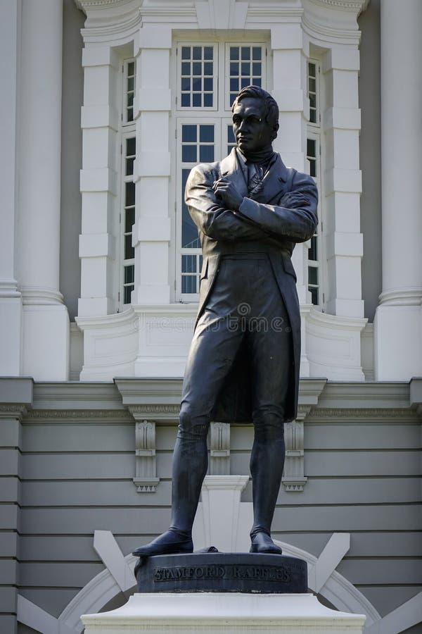 Statua Sir Thomas Stamford Raffles zdjęcie royalty free