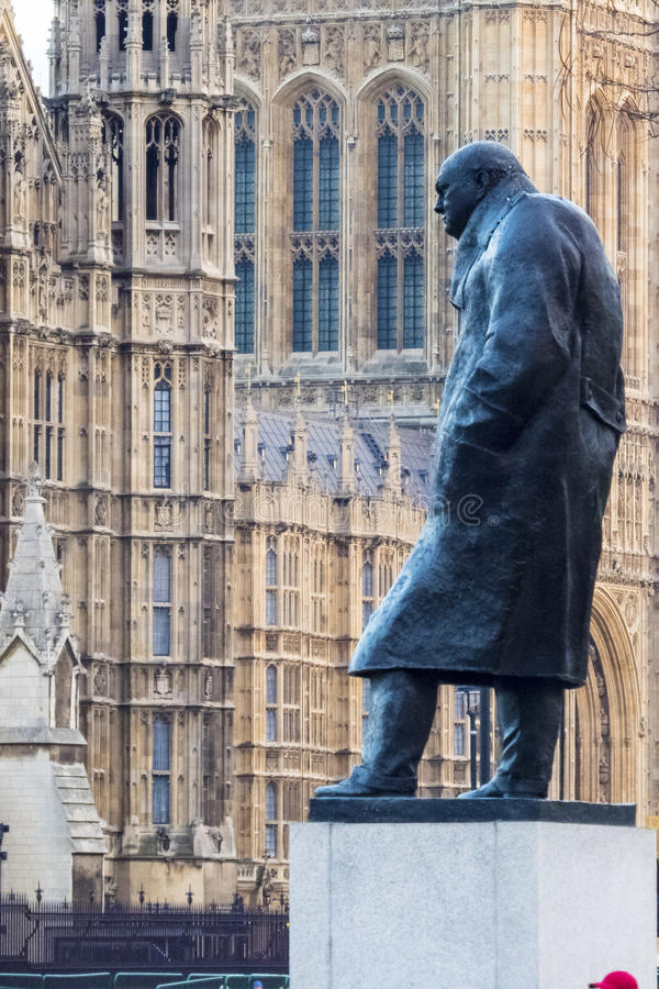 Statua Sir Winston Churchill zdjęcie royalty free