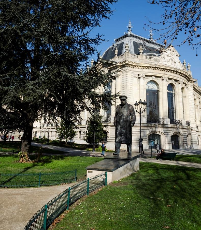 Statua Sir Winston Churchill w Paryż fotografia royalty free