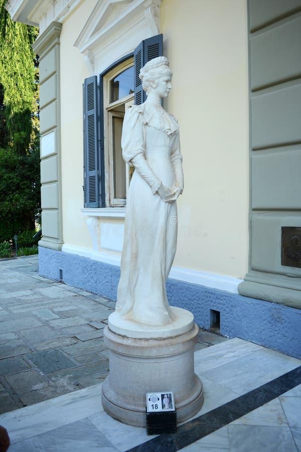 Statua Sissi w Achilleion zdjęcia royalty free