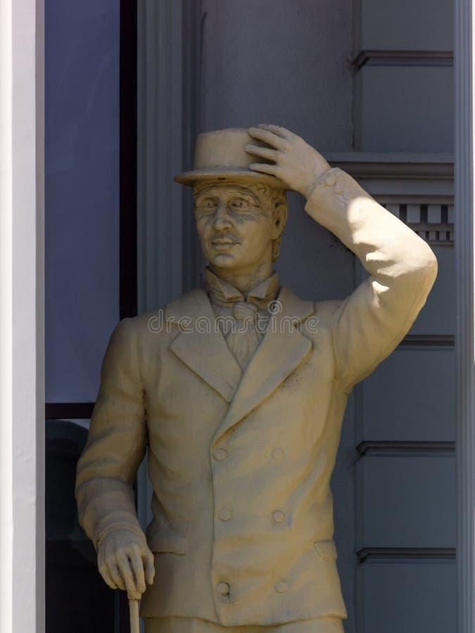 Statua a Skopje, Repubblica Macedone immagine stock libera da diritti