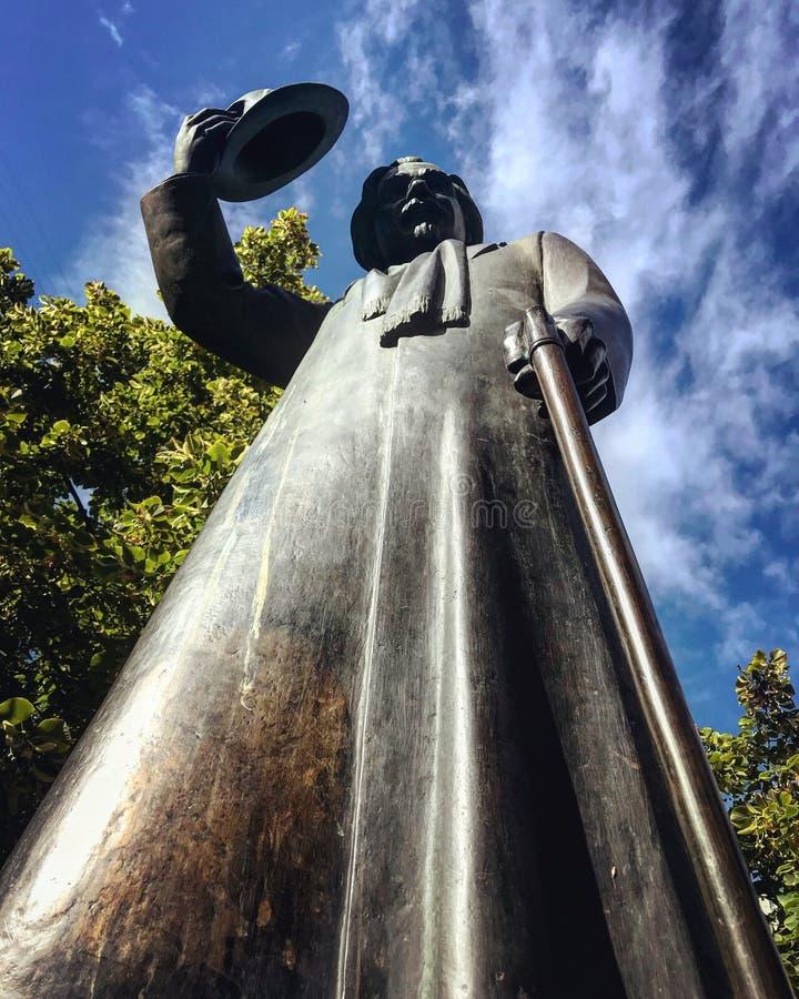 Statua Solomon Naumovich Rabinovich w Kyiv, UKRAINA - obrazy royalty free