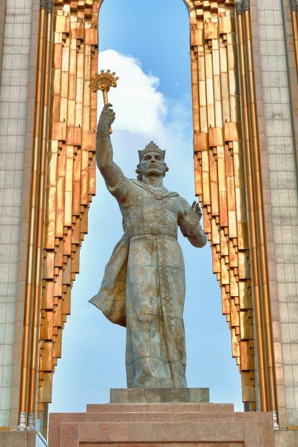 Statua Somoni dushanbe Tajikistan obraz stock