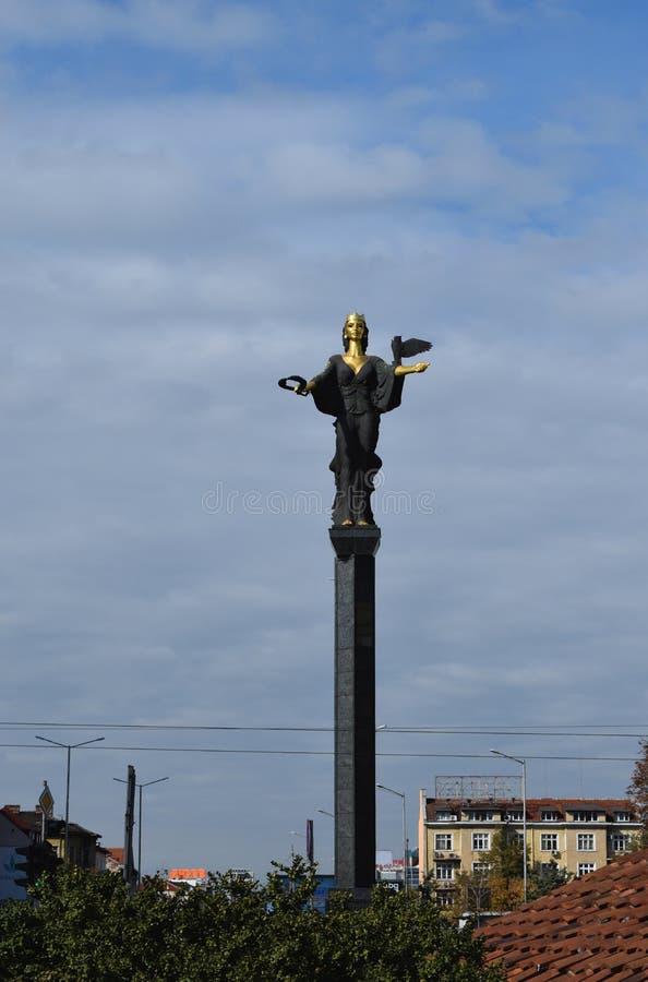 Statua St Sophia w Sofia ` s centrum miasta obraz royalty free
