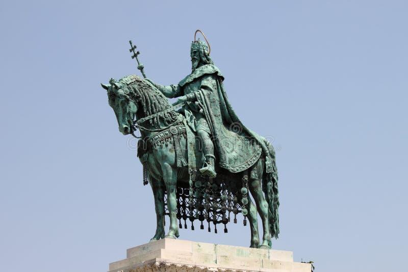 Statua St Stephen w Budapest obrazy stock