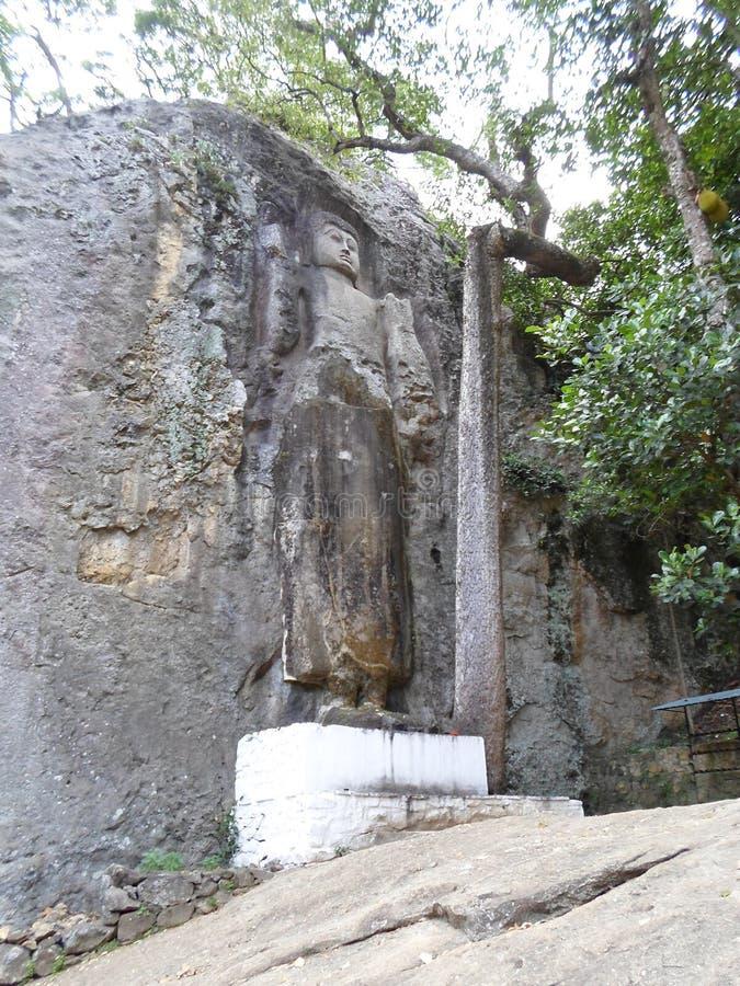 Statua stante Sri Lanka di Buddha immagini stock