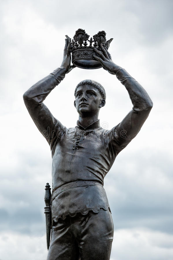 Statua a Stratford sopra Avon immagine stock libera da diritti