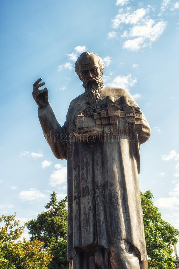 Statua sv Kliment Ohridski fotografia royalty free