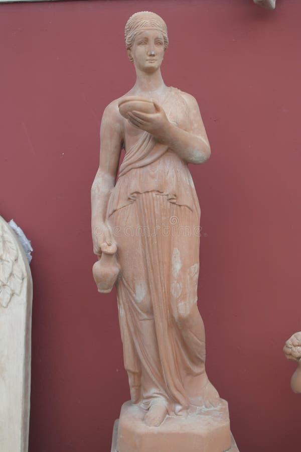 Statua in terracotta Italië royalty-vrije stock afbeeldingen