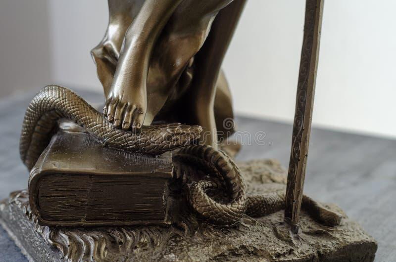 Statua Themis - bogini sprawiedliwość szczegół zdjęcie stock