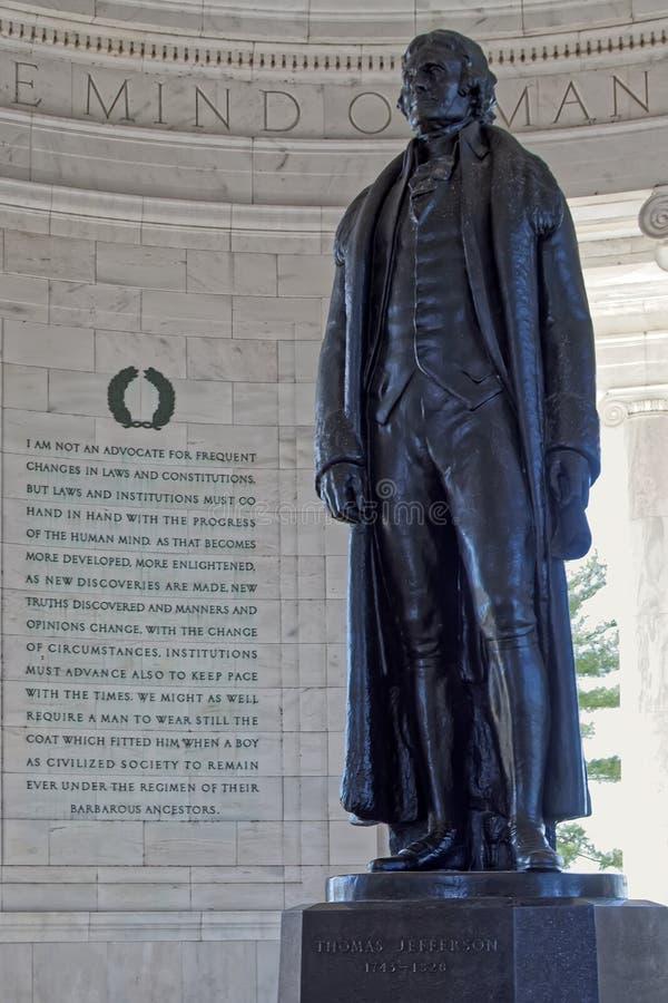Statua Thomas Jefferson w Jefferson pomniku zdjęcie royalty free