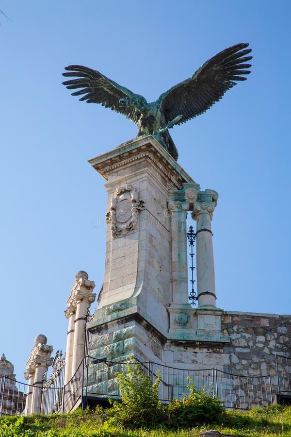 Statua Torok przy Buda kasztelem w Budapest obraz stock