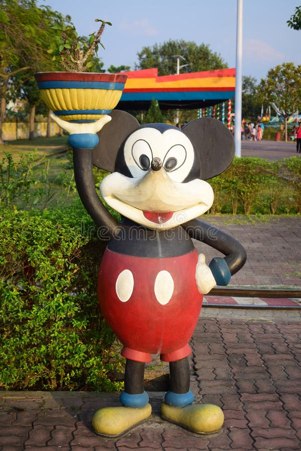 Statua van mickeymuis royalty-vrije stock foto
