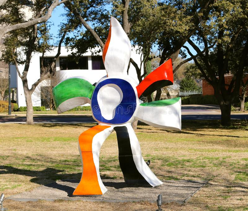 Statua variopinta a Kimball Art Museum Fort Worth, il Texas fotografie stock