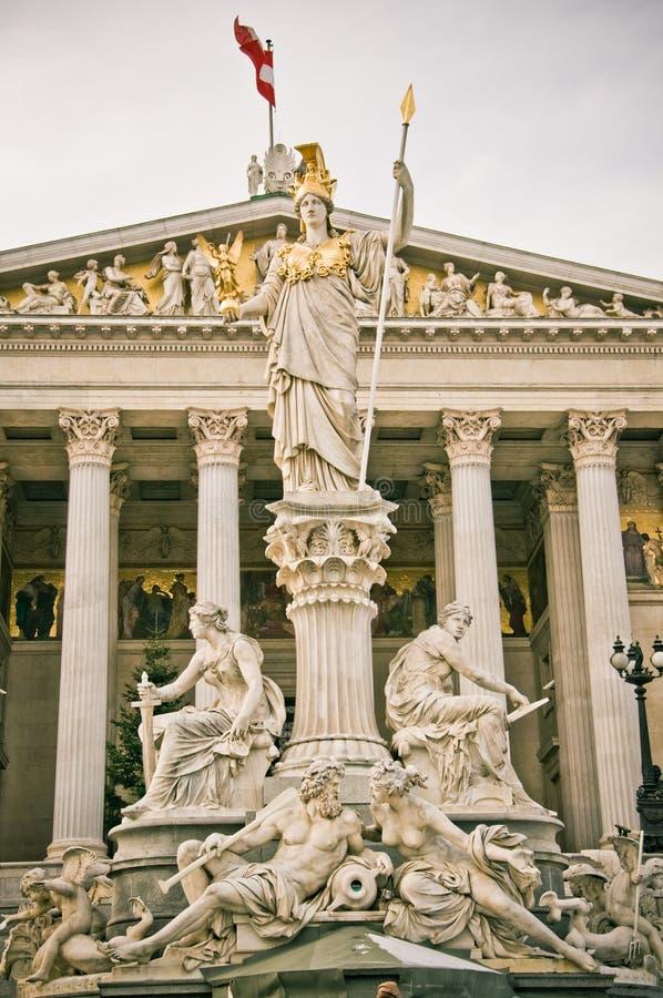 Statua Vienna di Atena fotografia stock