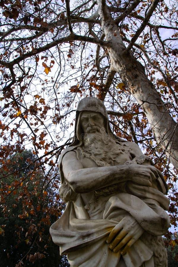 Statua in villa comunale royalty-vrije stock afbeelding