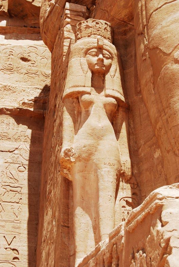 Statua w Abu Simbel zdjęcie stock