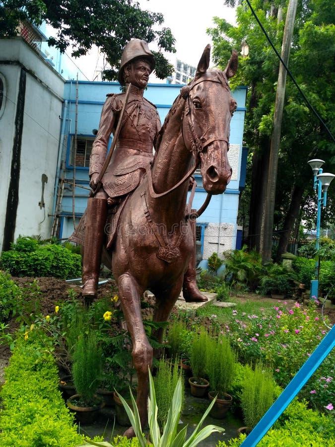 Statua w Calcutta obraz stock