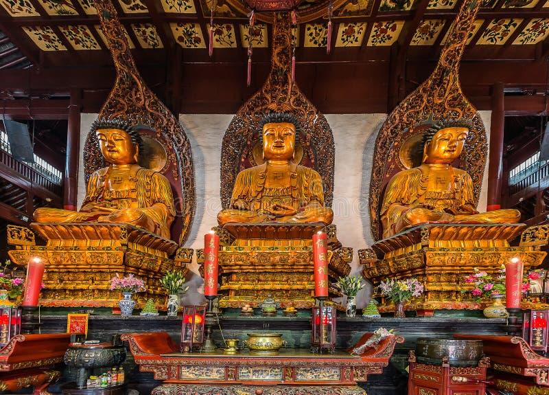 Statua w chabeta Buddha Shanghai Świątynnej porcelanie obraz stock