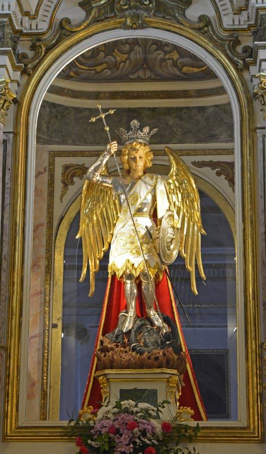 Statua w monasterze St Michael, Lliria, Hiszpania obrazy stock