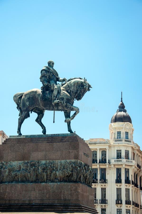 Statua w Montevideo, Urugwaj fotografia stock