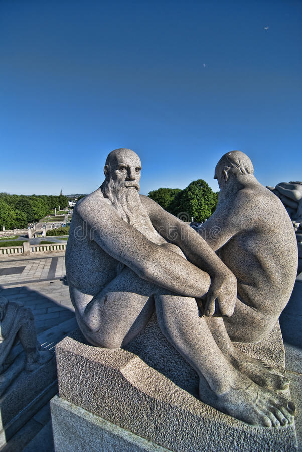 Statua w Parku Oslo fotografia stock