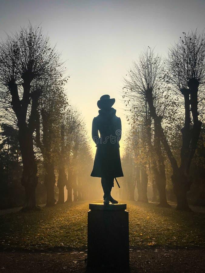 Statua w Søndermarken ogródzie Dani obrazy stock