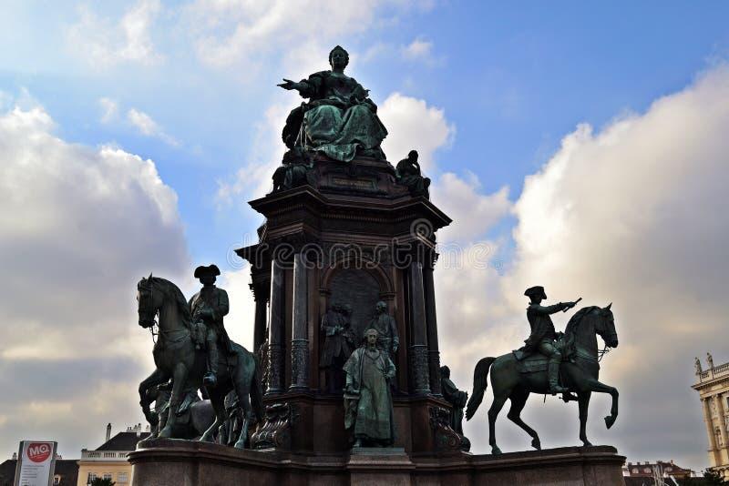 Statua Wien di Maria Theresia immagini stock libere da diritti