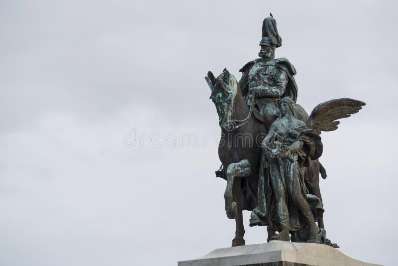 Statua Wilhelm Koblenz obrazy royalty free