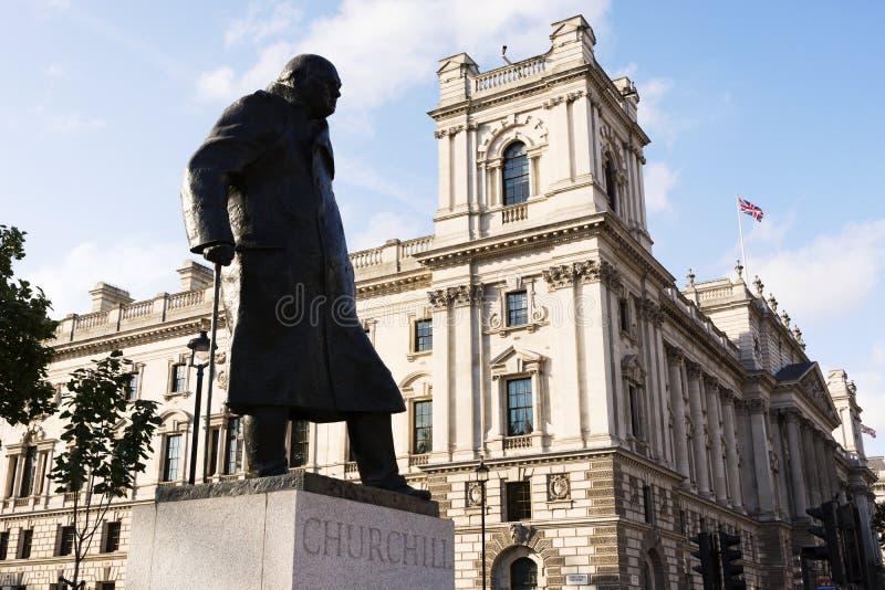 Statua Winston Churchill, premier wielkiej brytanii w 18 Wrzesień 2018 Londyn obrazy royalty free