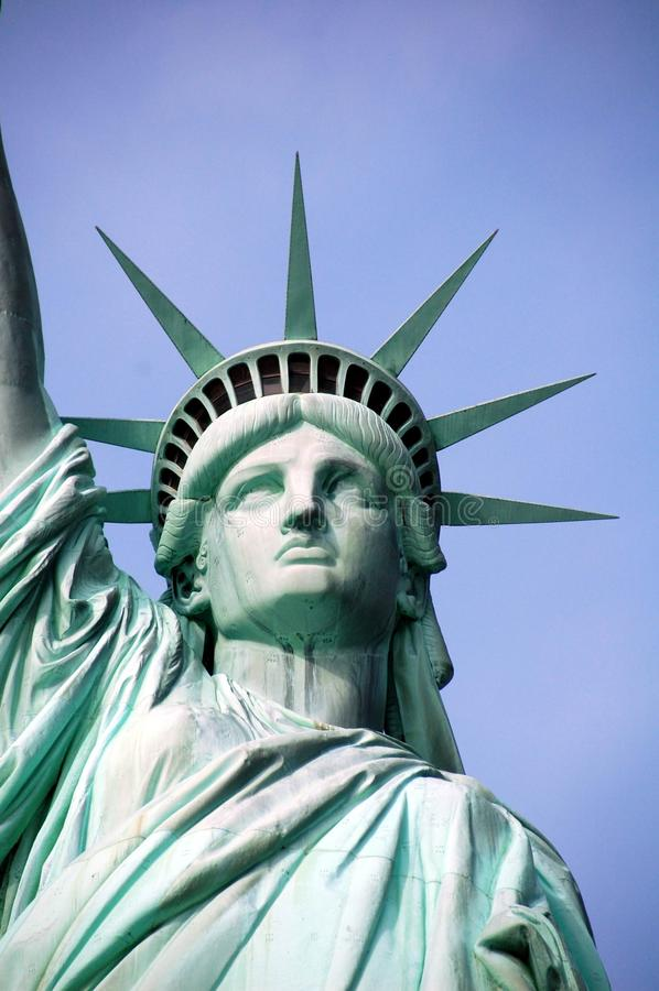 Statua Wolności - Pełna twarz z koroną fotografia stock