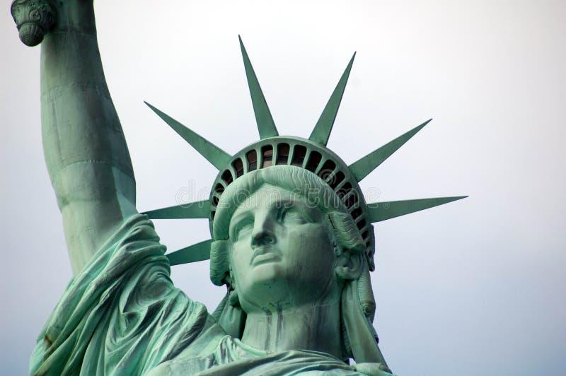 Statua Wolności - twarz i korona zdjęcie stock