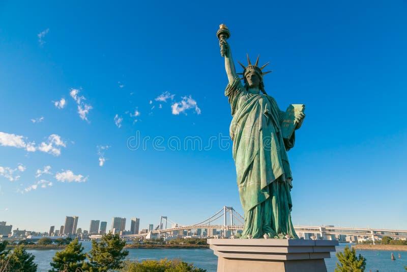 Statua Wolności w Odaiba terenie, Tokio obrazy royalty free