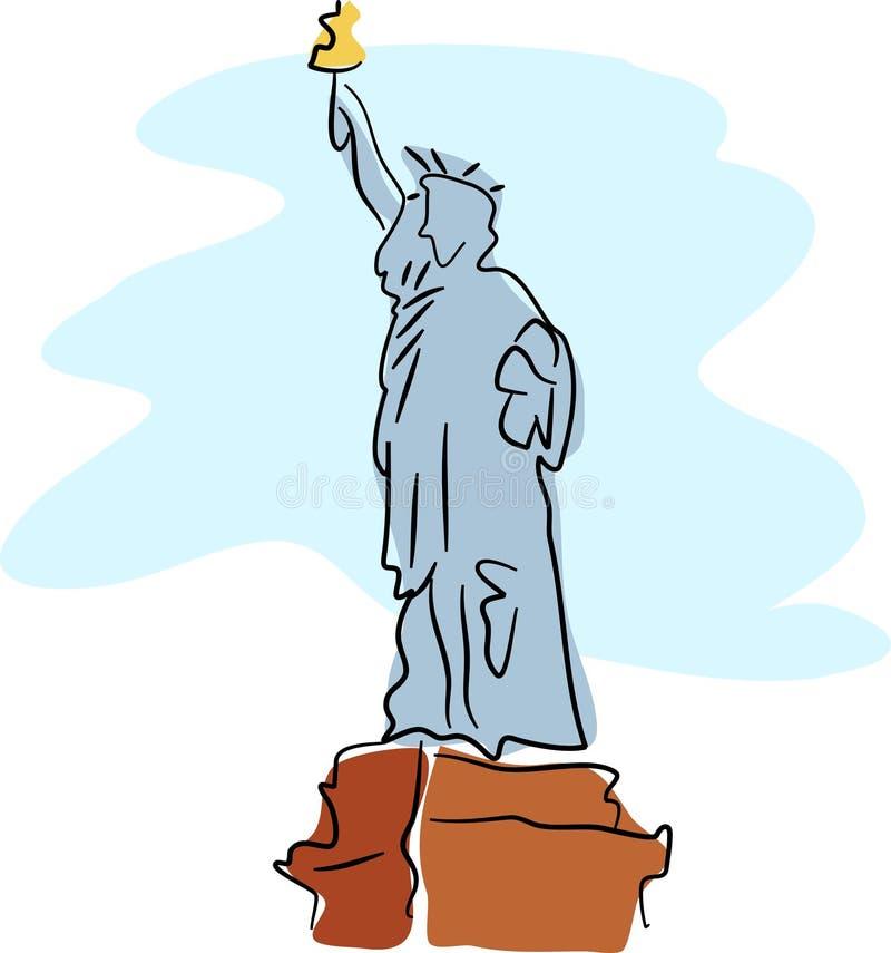 Download Statua wolności ilustracja wektor. Obraz złożonej z niezależność - 41676