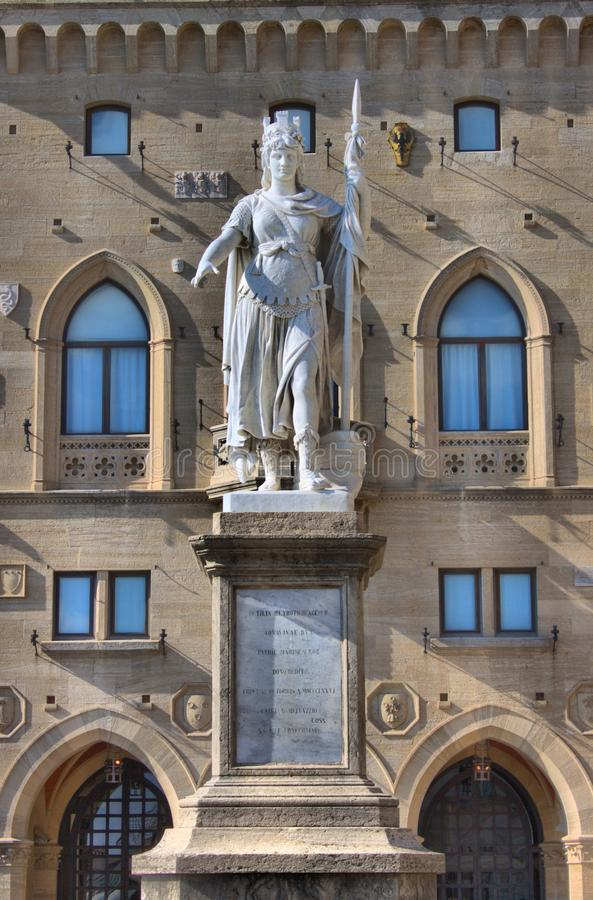 Statua wolno?? w San Marino obraz royalty free