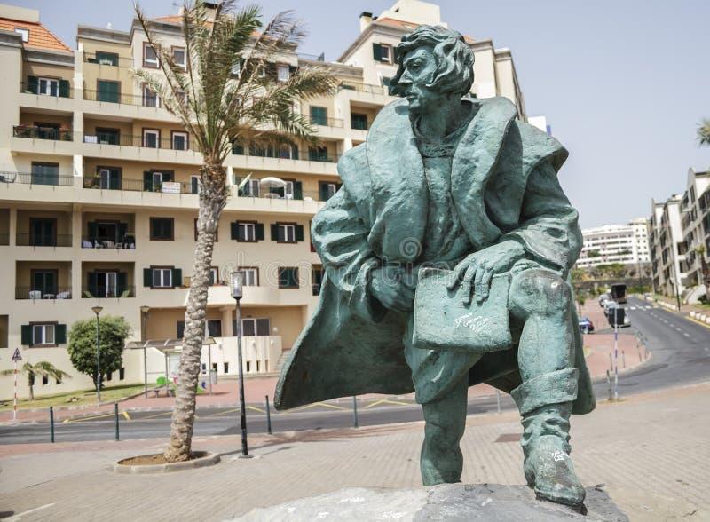 Statua Zarco w Funchal, madera obrazy royalty free