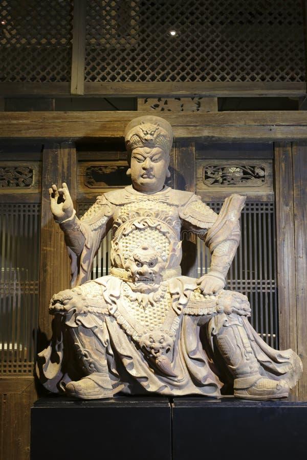 Statuaire du général chinois antique photo stock