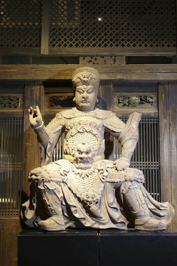 Statuary of ancient chinese general