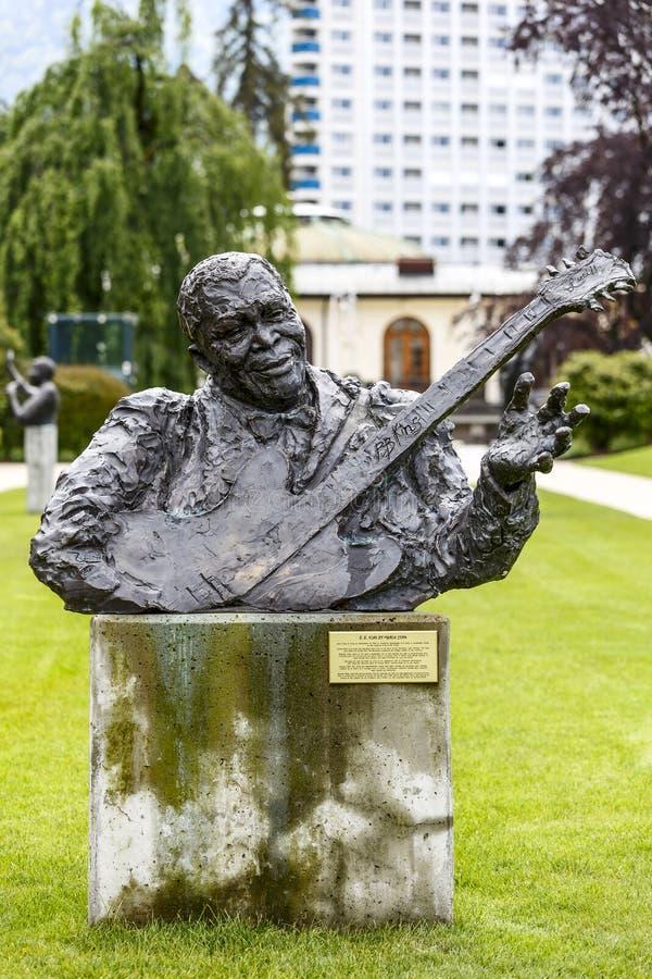 Statue à B.B. King à Montreux photos stock