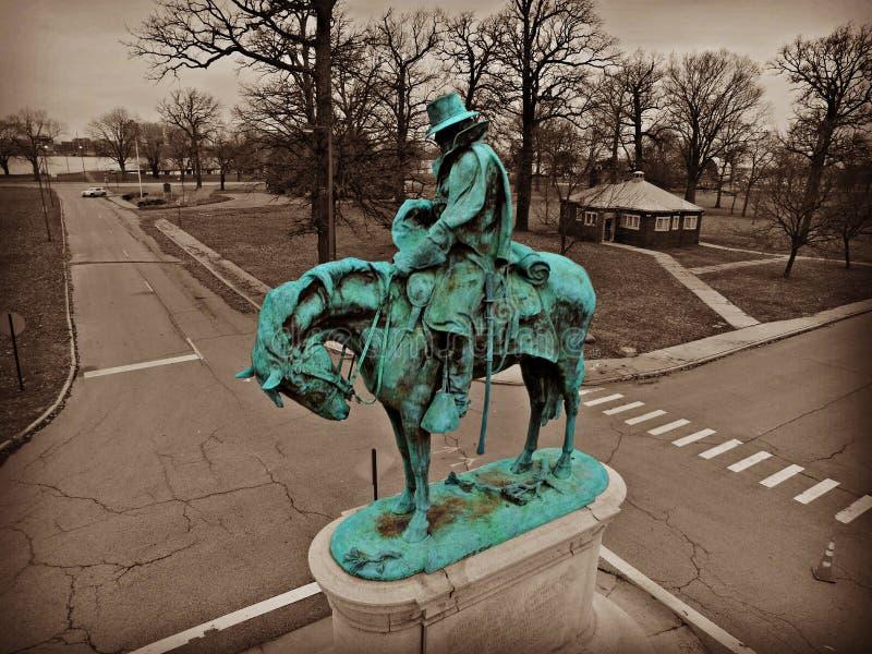 Statue à Detroit photos libres de droits