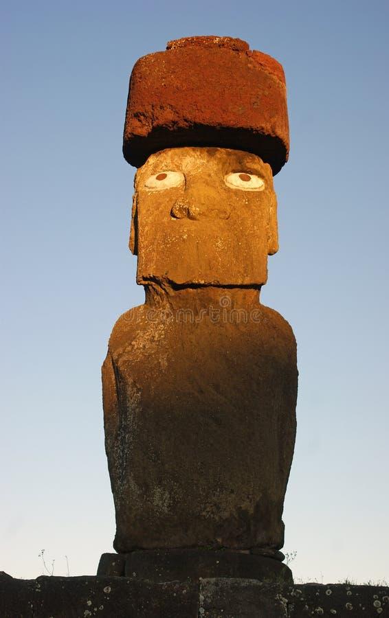 Statue à l'île de Pâques photos stock