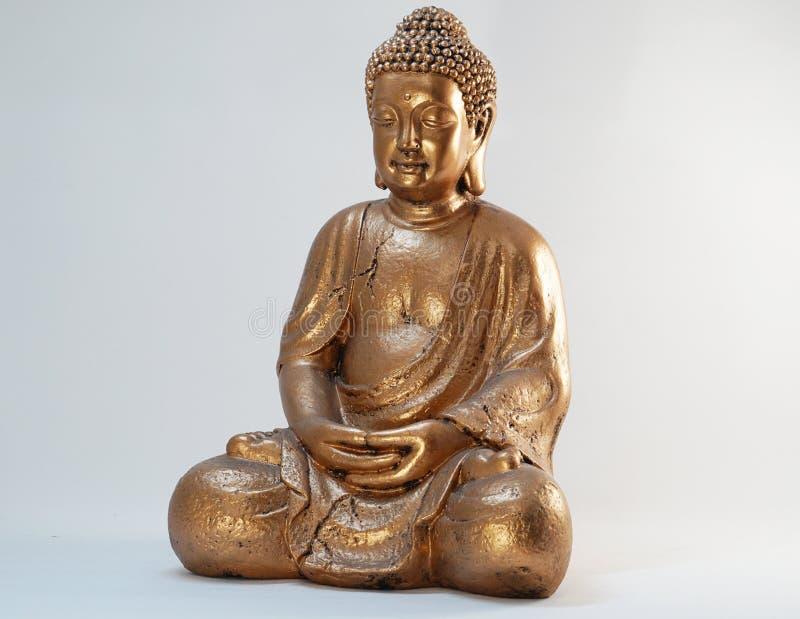 Statue à la maison de Bouddha de bronze de la décoration 70 cm image stock
