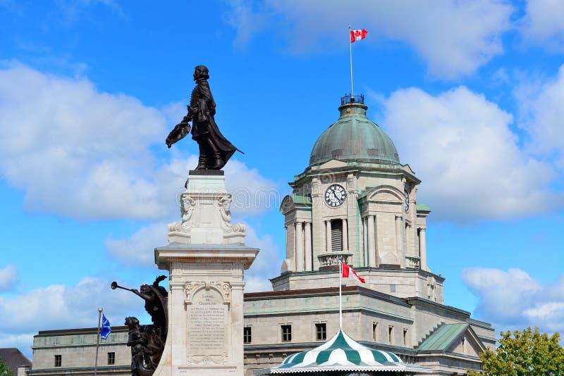 Statue à Québec image stock