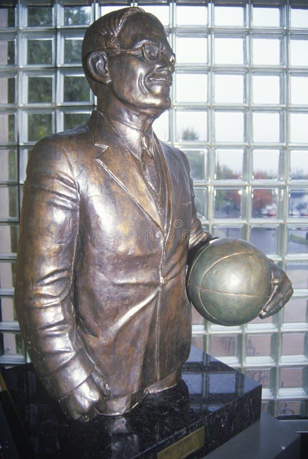 Statue à Springfield, Panthéon de basket-ball de mA images libres de droits
