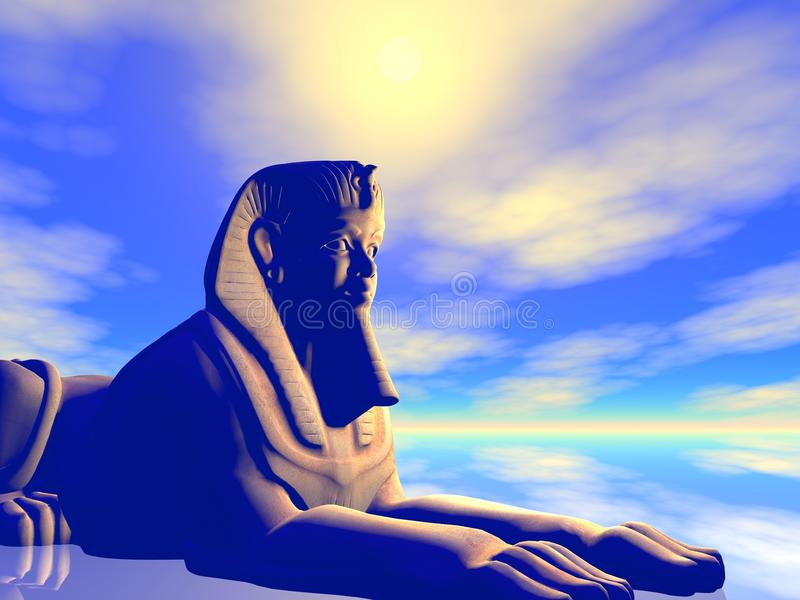 Statue égyptienne antique d'illustration illustration libre de droits