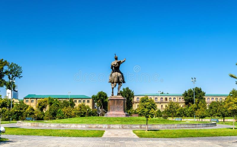 Statue équestre d'Amir Timur à Tashkent - Ouzbékistan photographie stock libre de droits