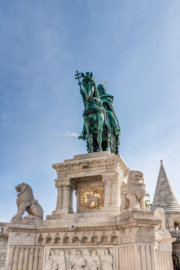 Statue équestre dans Budepest photo libre de droits