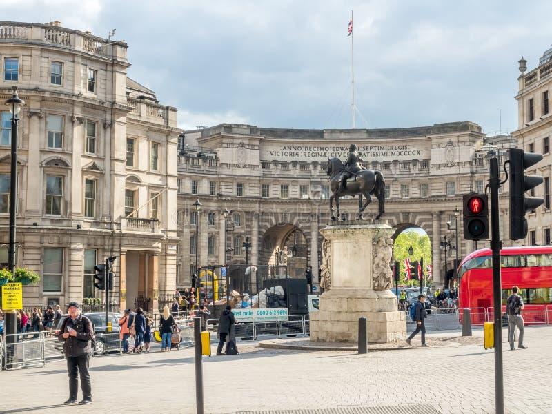 Statue équestre de Charles I à Londres photo stock